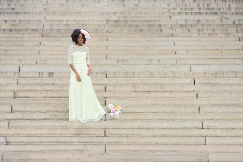 Spring Bride in New York Central Park